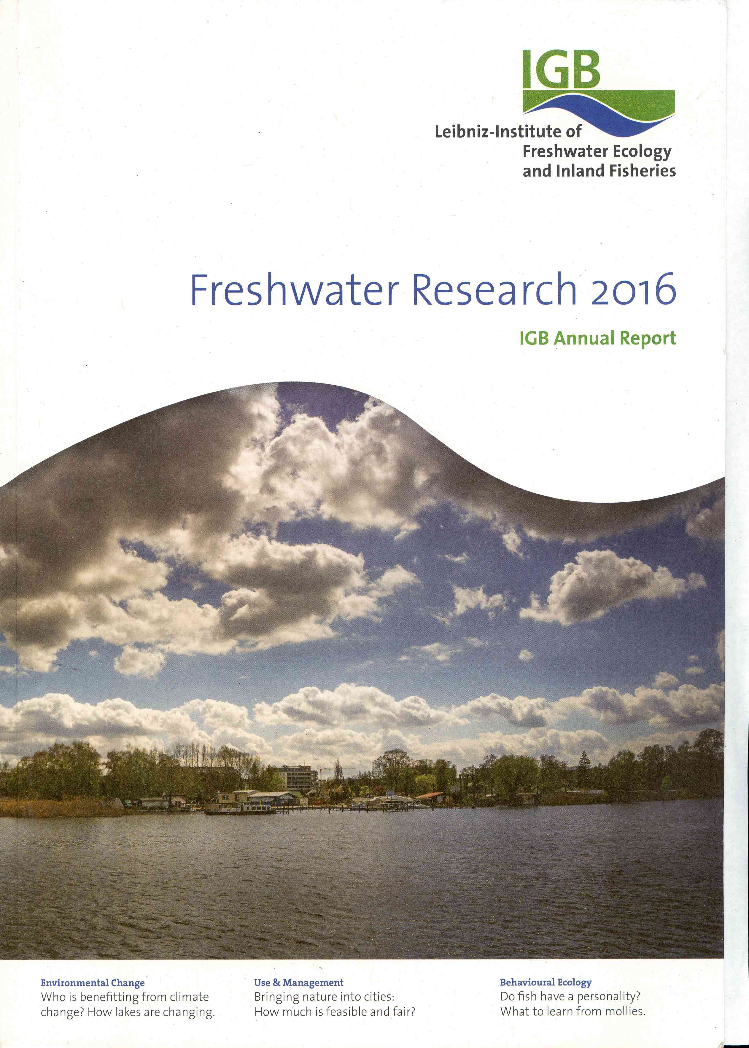 Обложка Freshwater Research