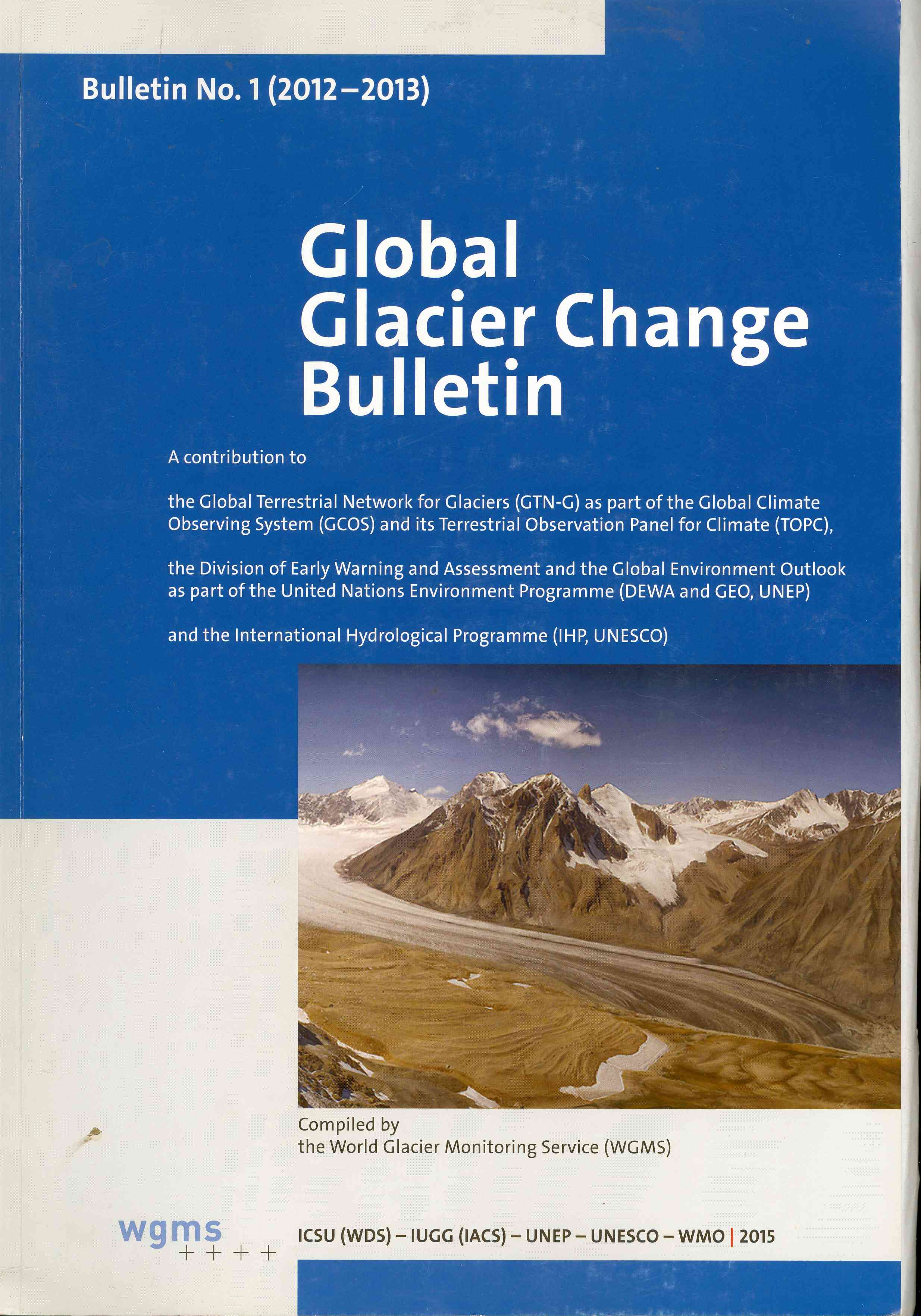Обложка Global Glacier Change Bulletin, 2015